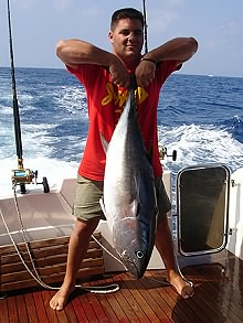 Tuna caught off the Soller coast