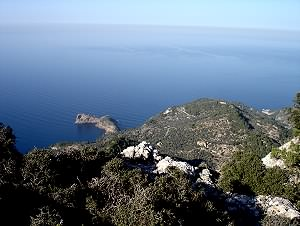 View of the sea near Valldemossa